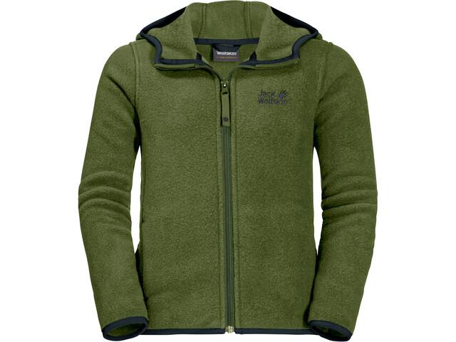 bd6e046100 Jack Wolfskin Baksmalla Hooded Jacket Kids cypress green at ...